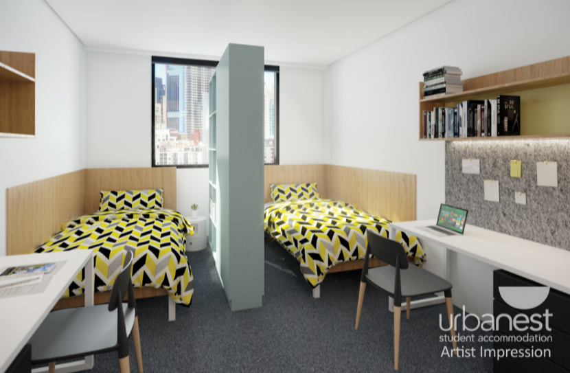 Urbanest darling square student rooms for Interior decoration and design at rmit university city