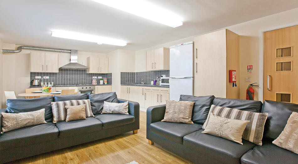 Living Room Nottingham the glasshouse student accommodation • student